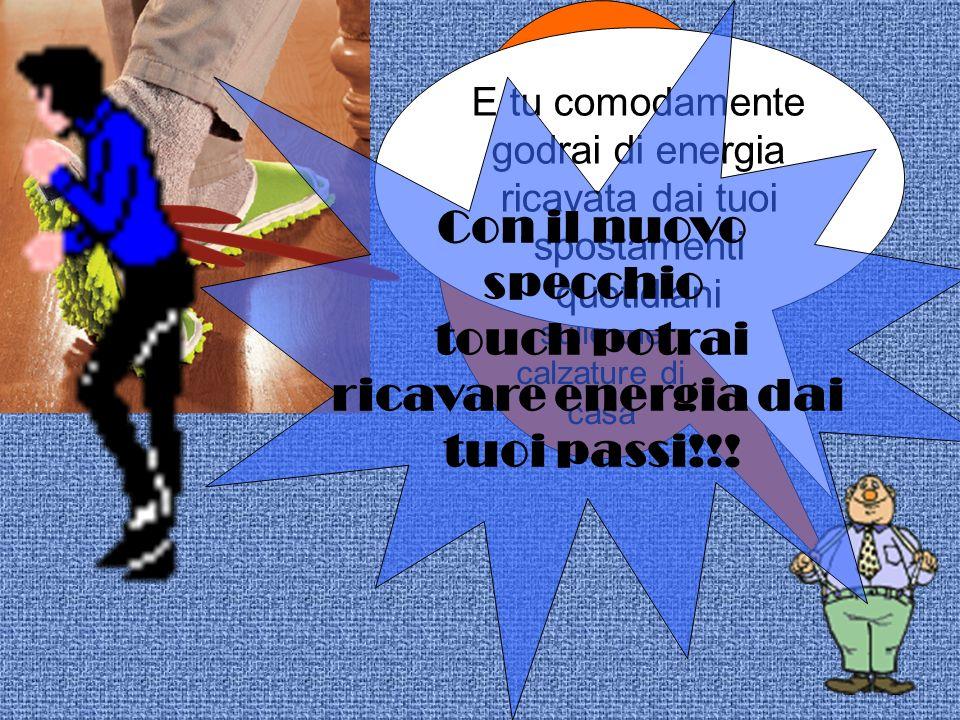 Con il nuovo specchio touch potrai ricavare energia dai tuoi passi!!!