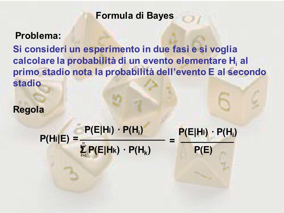 Formula di Bayes Problema: