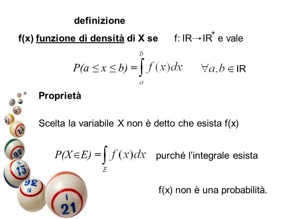 P(a ≤ x ≤ b) = P(X E) = definizione