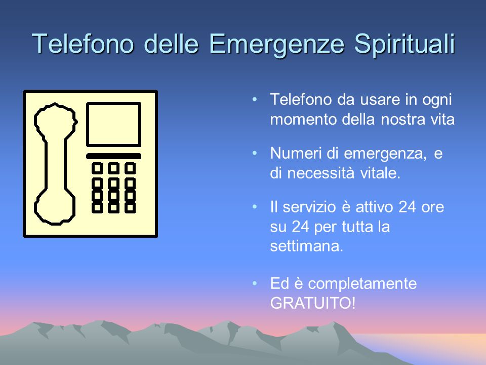 Telefono delle Emergenze Spirituali
