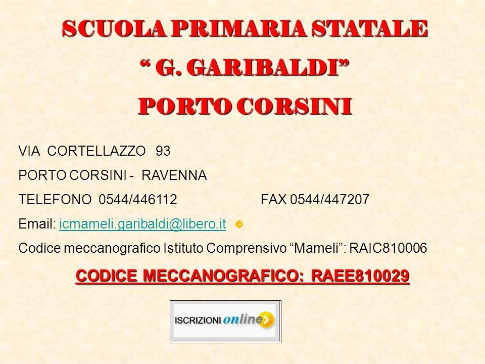 SCUOLA PRIMARIA STATALE CODICE MECCANOGRAFICO: RAEE810029