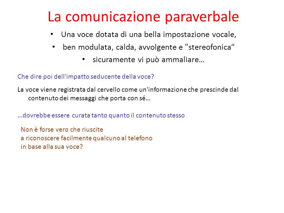 La comunicazione paraverbale