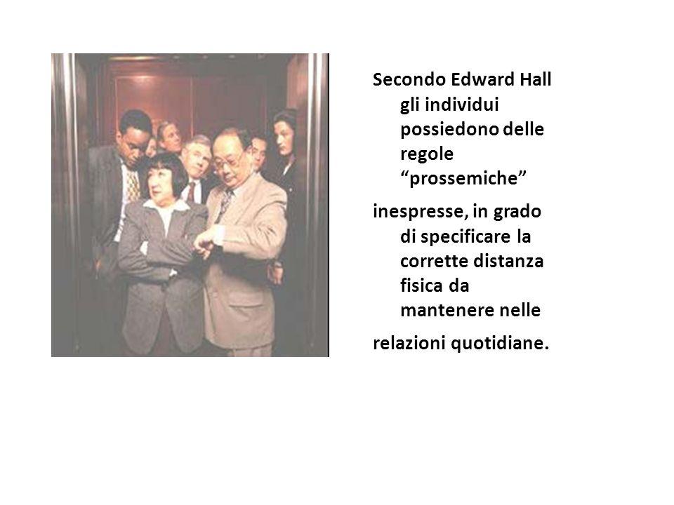 Secondo Edward Hall gli individui possiedono delle regole prossemiche