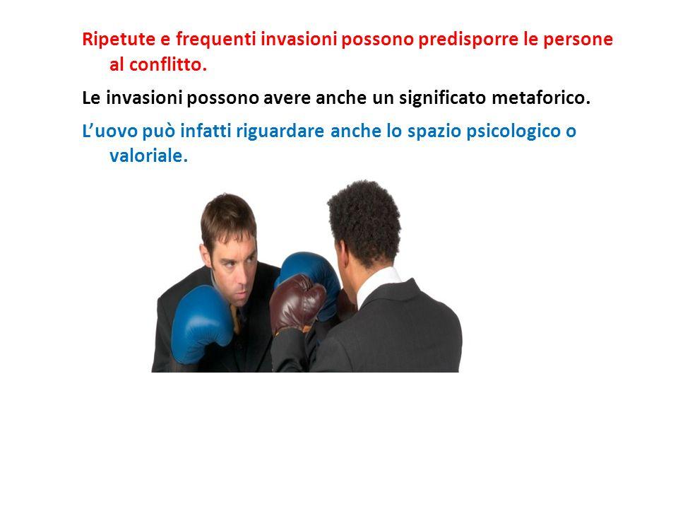 Ripetute e frequenti invasioni possono predisporre le persone al conflitto.