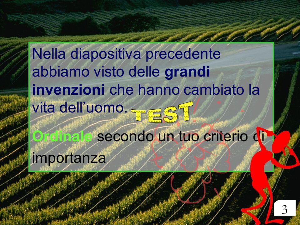 Ordinale secondo un tuo criterio di importanza TEST