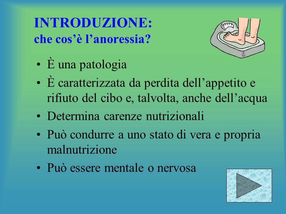 INTRODUZIONE: che cos'è l'anoressia