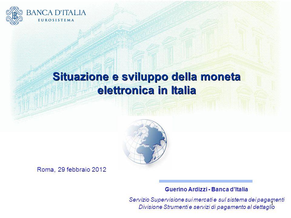 Situazione e sviluppo della moneta elettronica in Italia