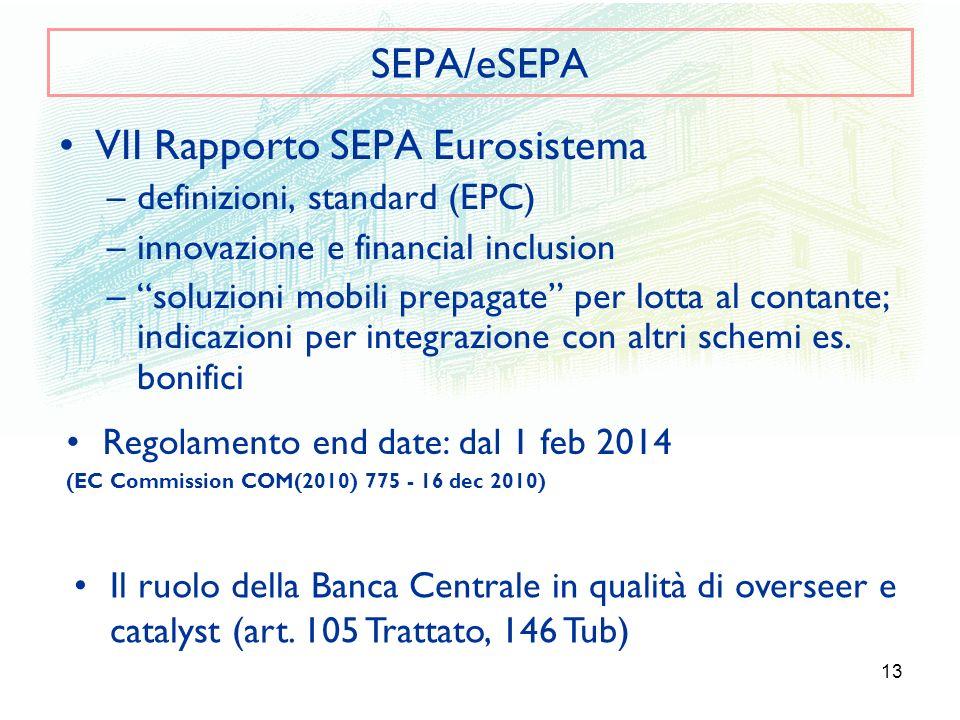 VII Rapporto SEPA Eurosistema
