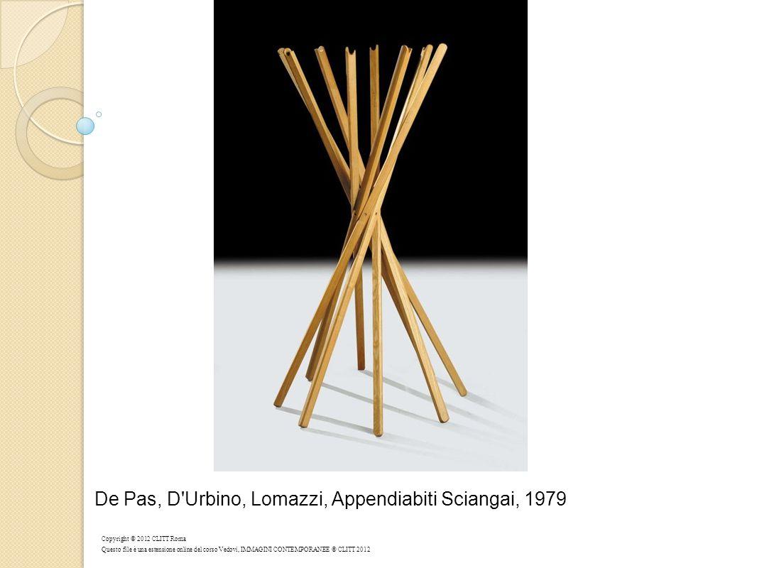 De Pas, D Urbino, Lomazzi, Appendiabiti Sciangai, 1979