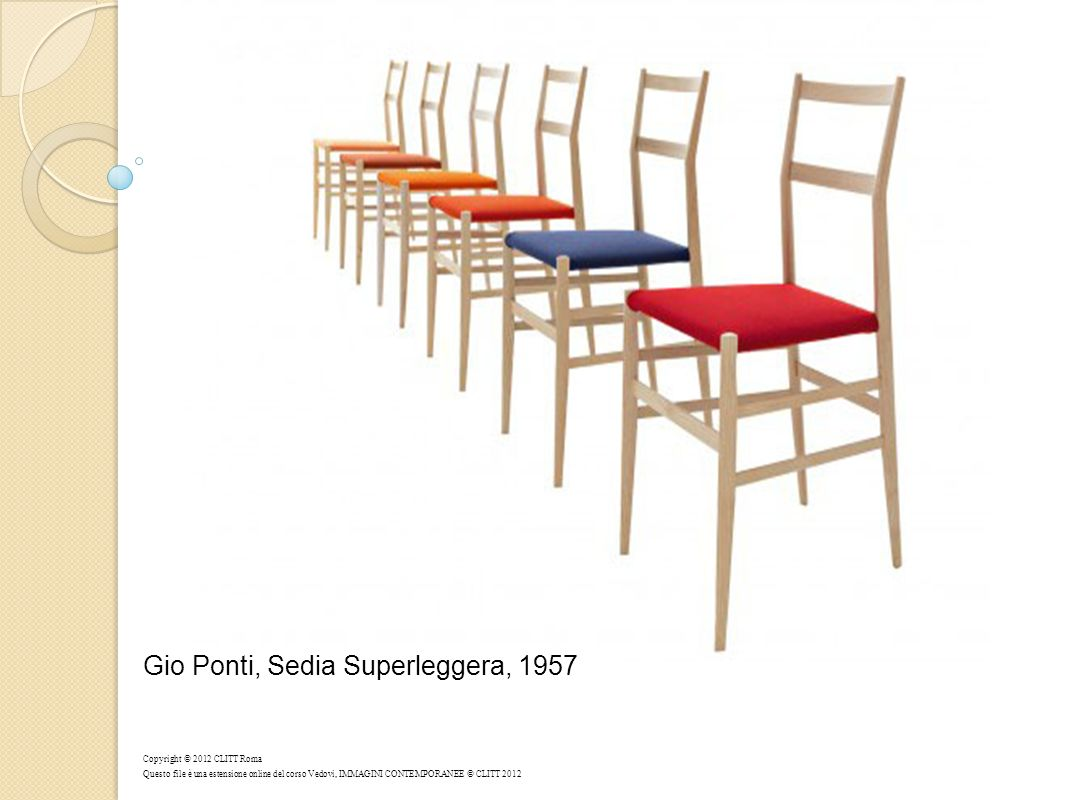 Gio Ponti, Sedia Superleggera, 1957