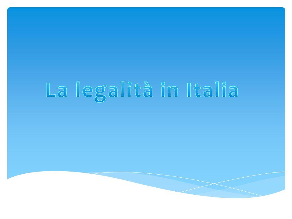 La legalità in Italia