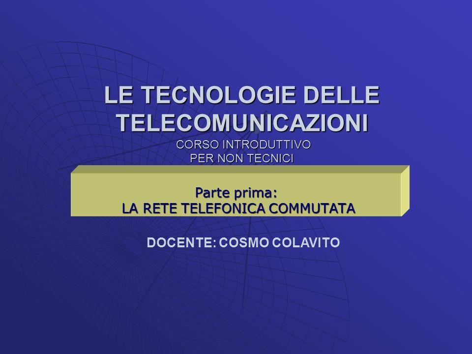 Parte prima: LA RETE TELEFONICA COMMUTATA
