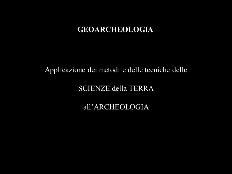 Applicazione dei metodi e delle tecniche delle