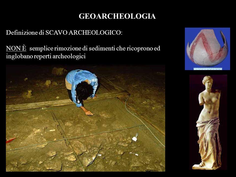 GEOARCHEOLOGIA Definizione di SCAVO ARCHEOLOGICO:
