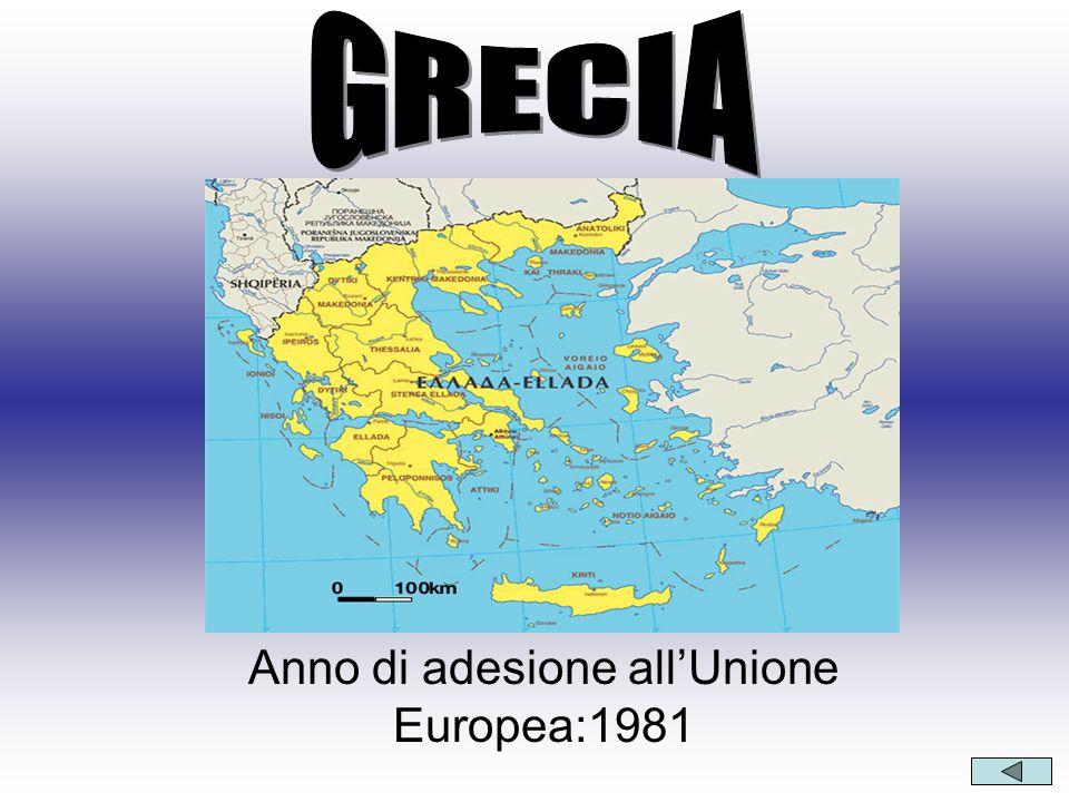 Anno di adesione all'Unione Europea:1981