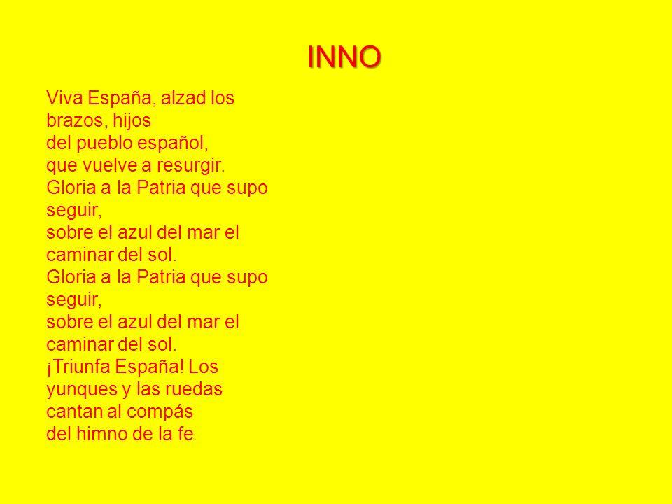 INNO Viva España, alzad los brazos, hijos del pueblo español, que vuelve a resurgir.
