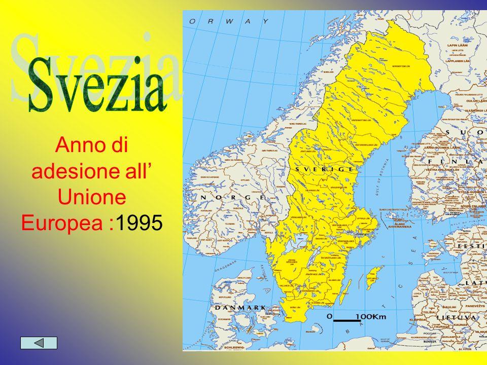 Anno di adesione all' Unione Europea :1995