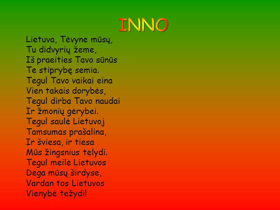 INNO Lietuva, Tėvyne mūsų, Tu didvyrių žeme, Iš praeities Tavo sūnūs