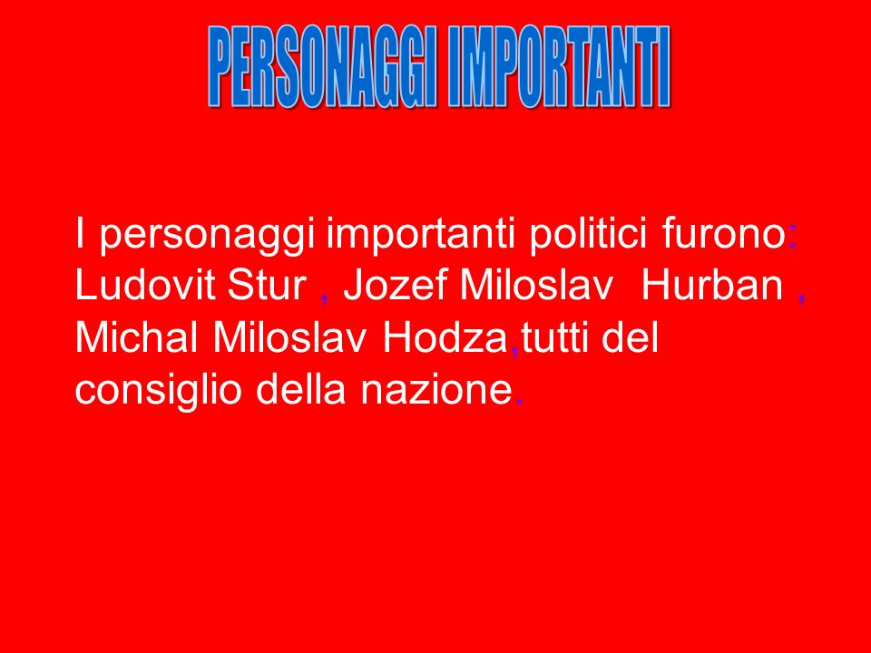 PERSONAGGI IMPORTANTI