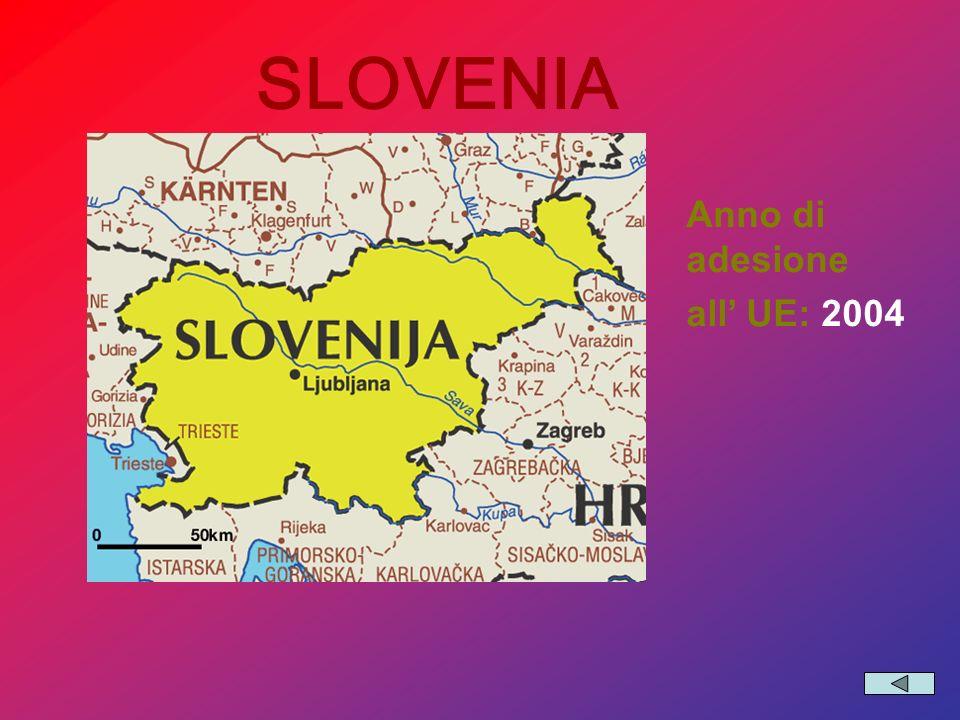 SLOVENIA Anno di adesione all' UE: 2004