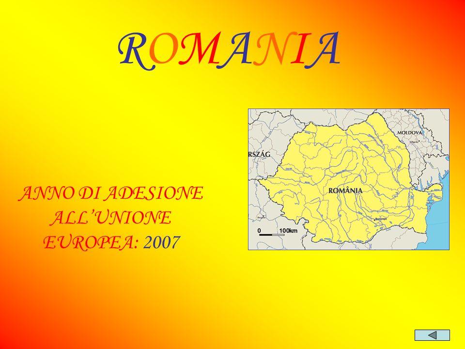 ANNO DI ADESIONE ALL'UNIONE EUROPEA: 2007