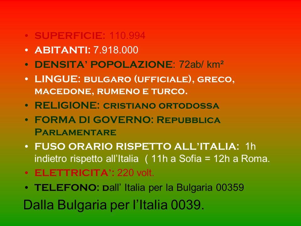 Dalla Bulgaria per l'Italia 0039.