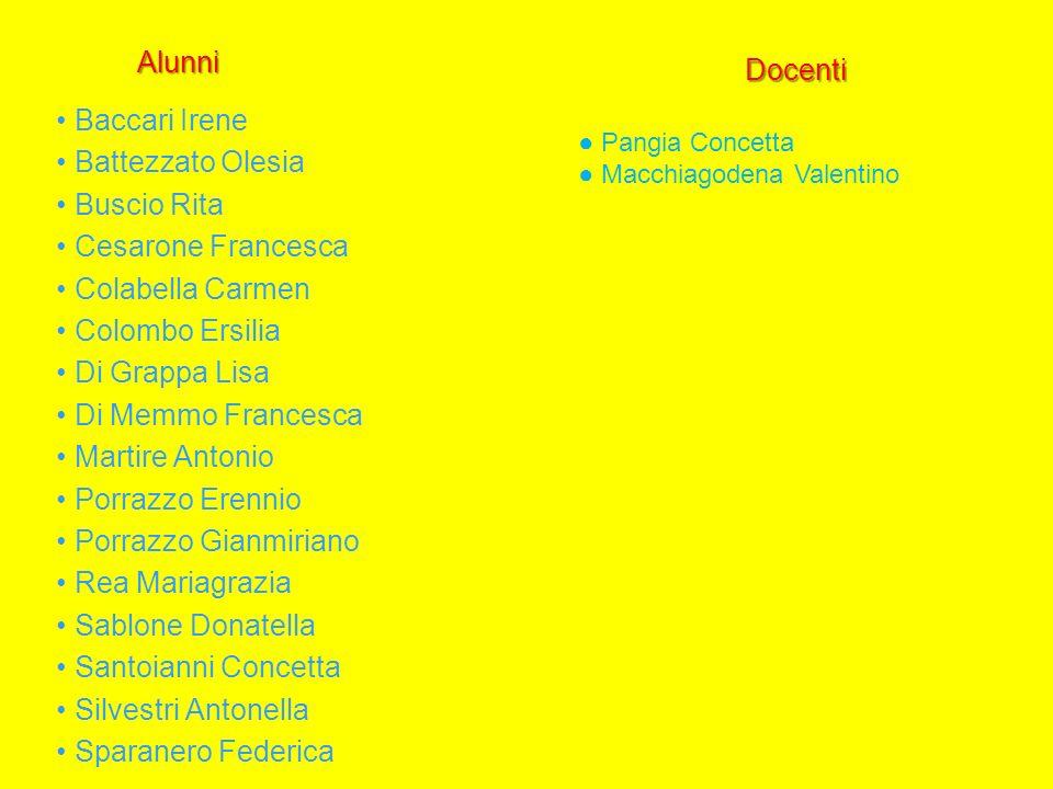 • Porrazzo Gianmiriano • Rea Mariagrazia • Sablone Donatella