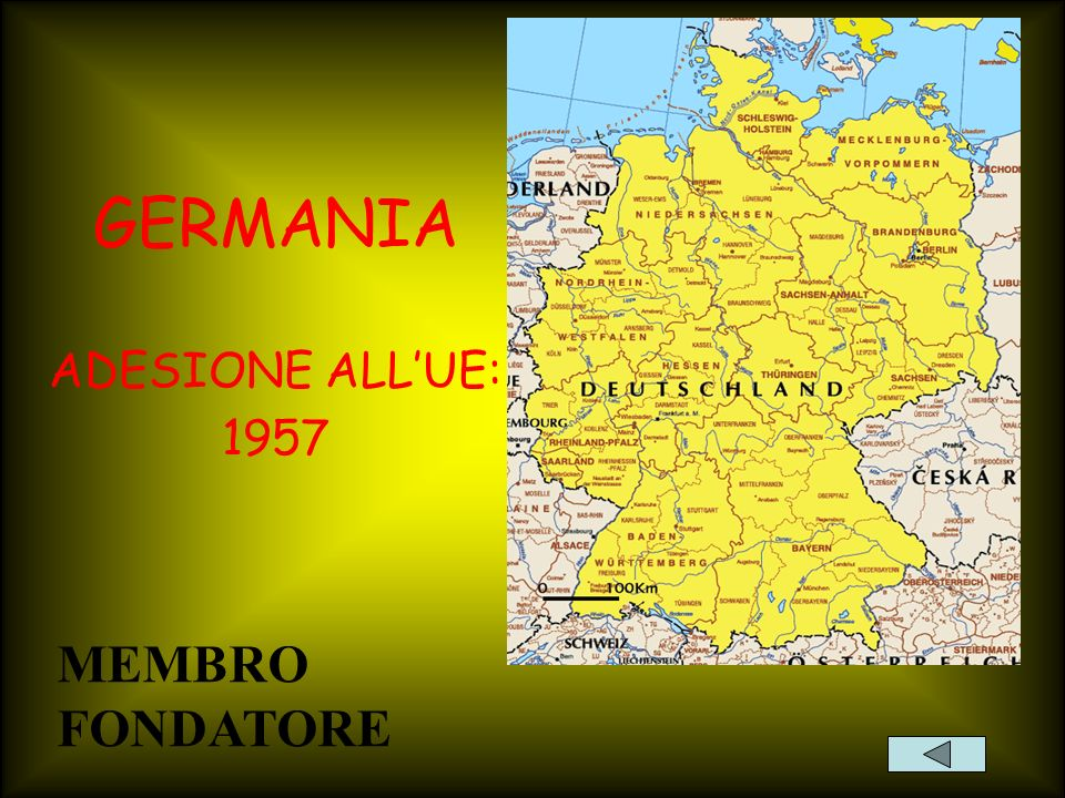 GERMANIA ADESIONE ALL'UE: 1957