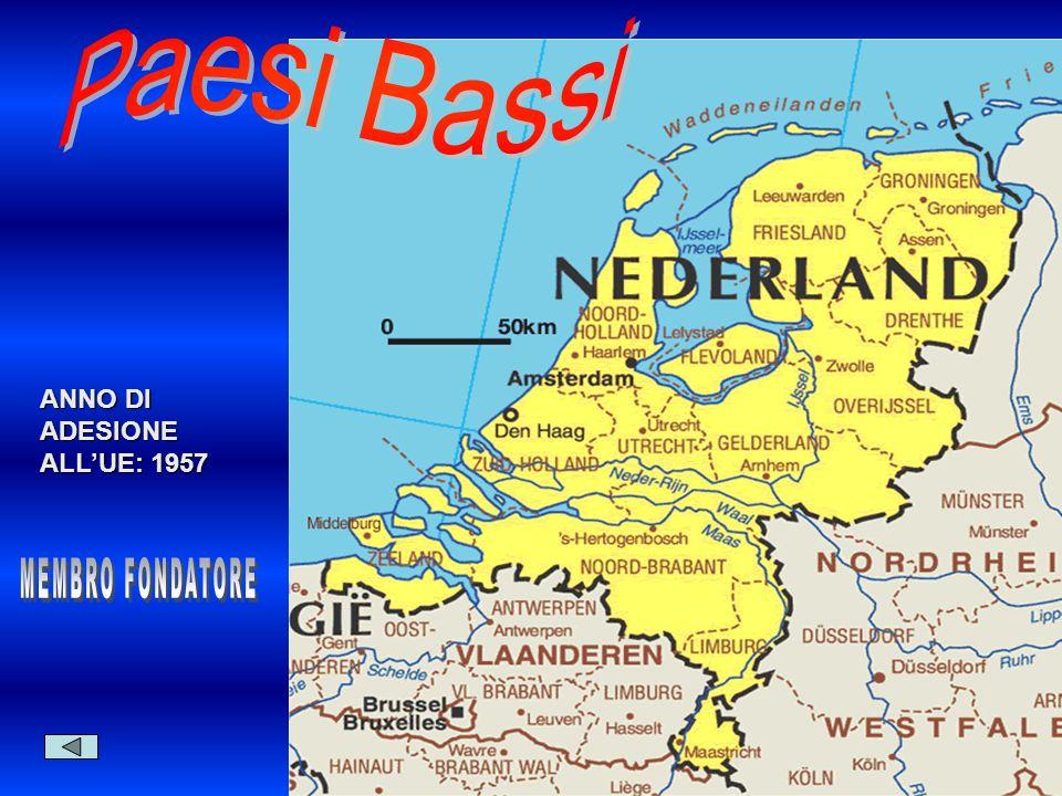 Paesi Bassi ANNO DI ADESIONE ALL'UE: 1957 MEMBRO FONDATORE