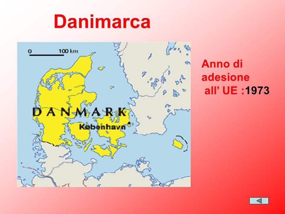 Danimarca Anno di adesione all' UE :1973
