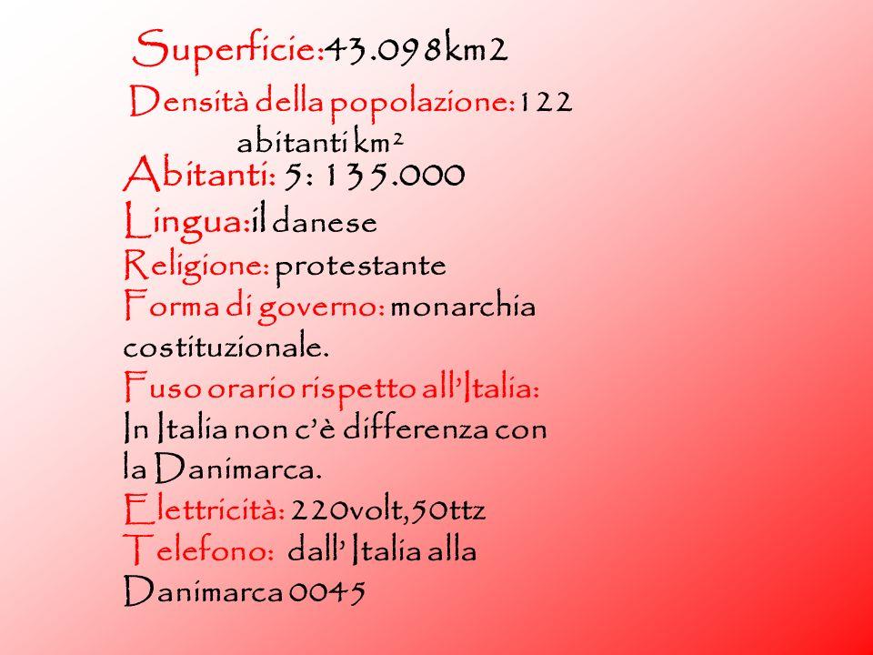 Superficie:43.098km2 Densità della popolazione:122 abitanti km²