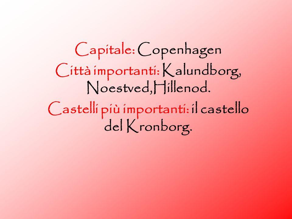 Città importanti: Kalundborg, Noestved,Hillenod.