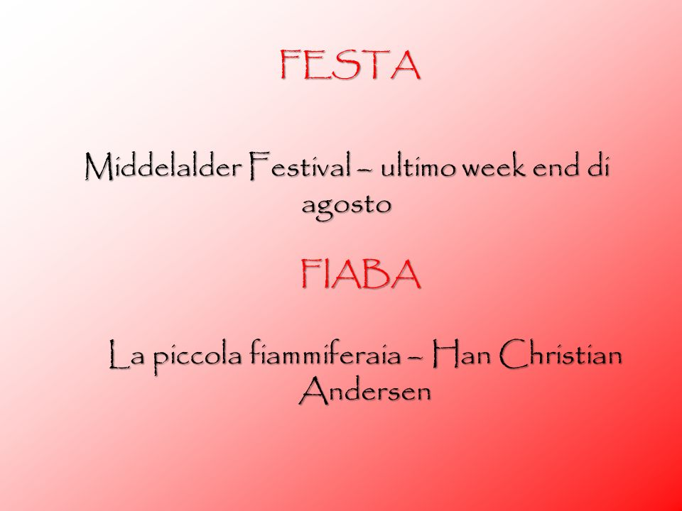 Middelalder Festival – ultimo week end di agosto