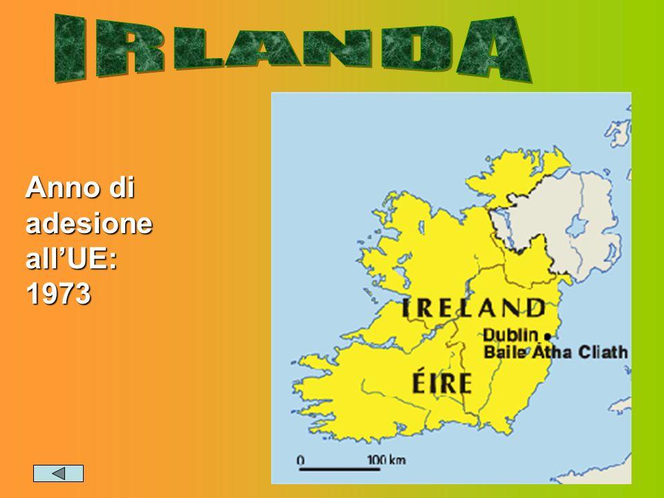 IRLANDA Anno di adesione all'UE: 1973