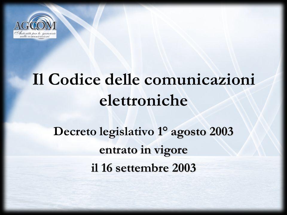 Il Codice delle comunicazioni elettroniche