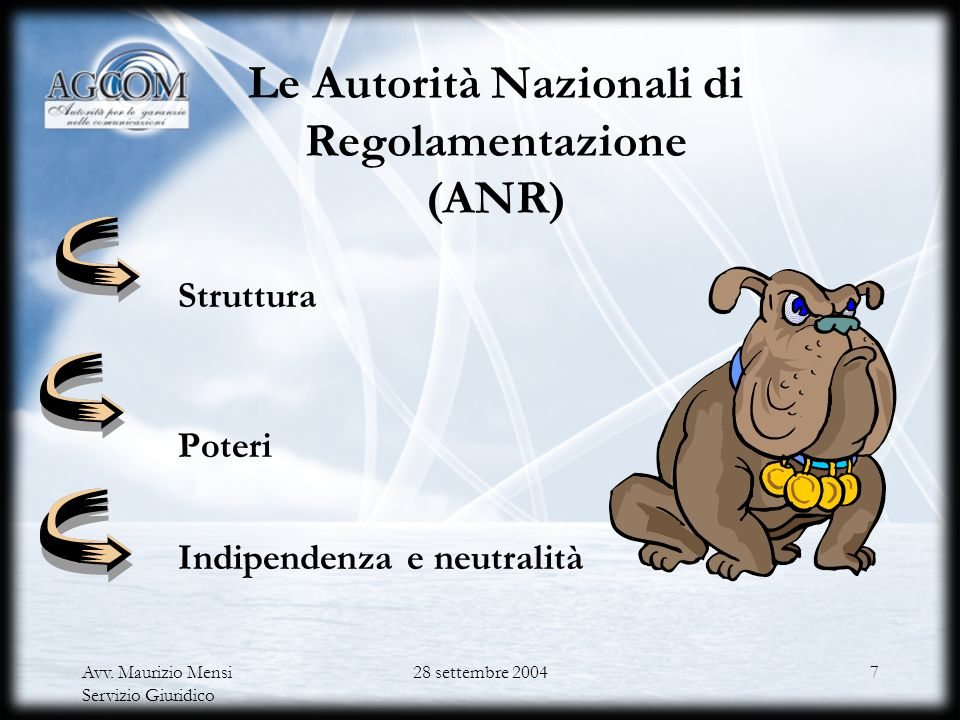 Le Autorità Nazionali di Regolamentazione (ANR)