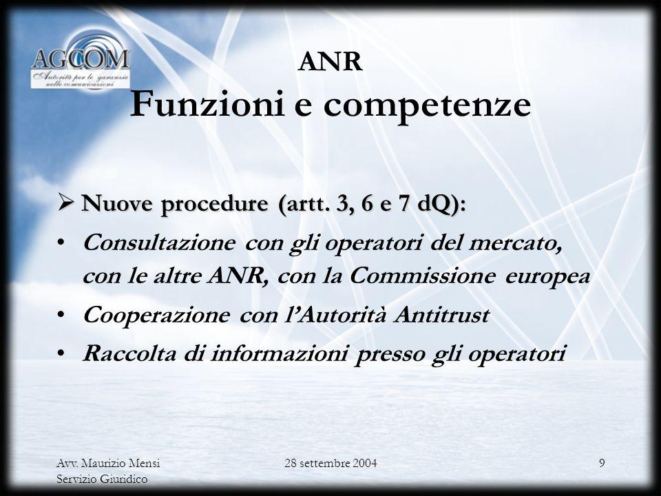 ANR Funzioni e competenze