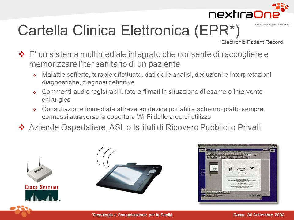 Cartella Clinica Elettronica (EPR*)