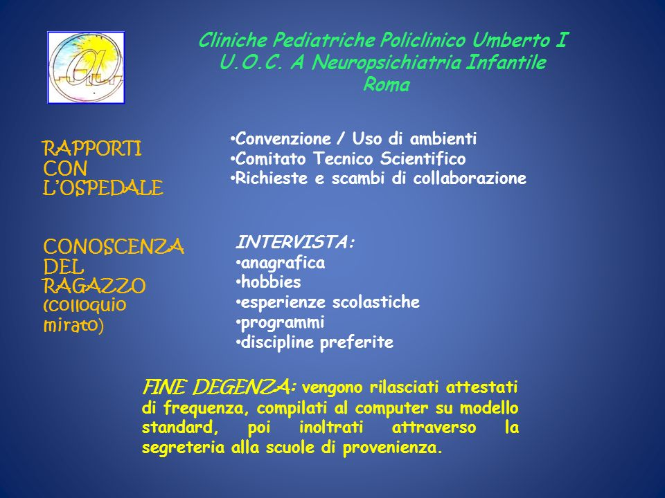 Cliniche Pediatriche Policlinico Umberto I