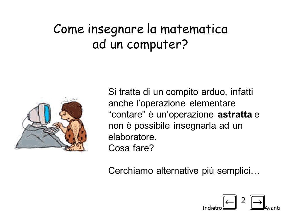 Come insegnare la matematica ad un computer