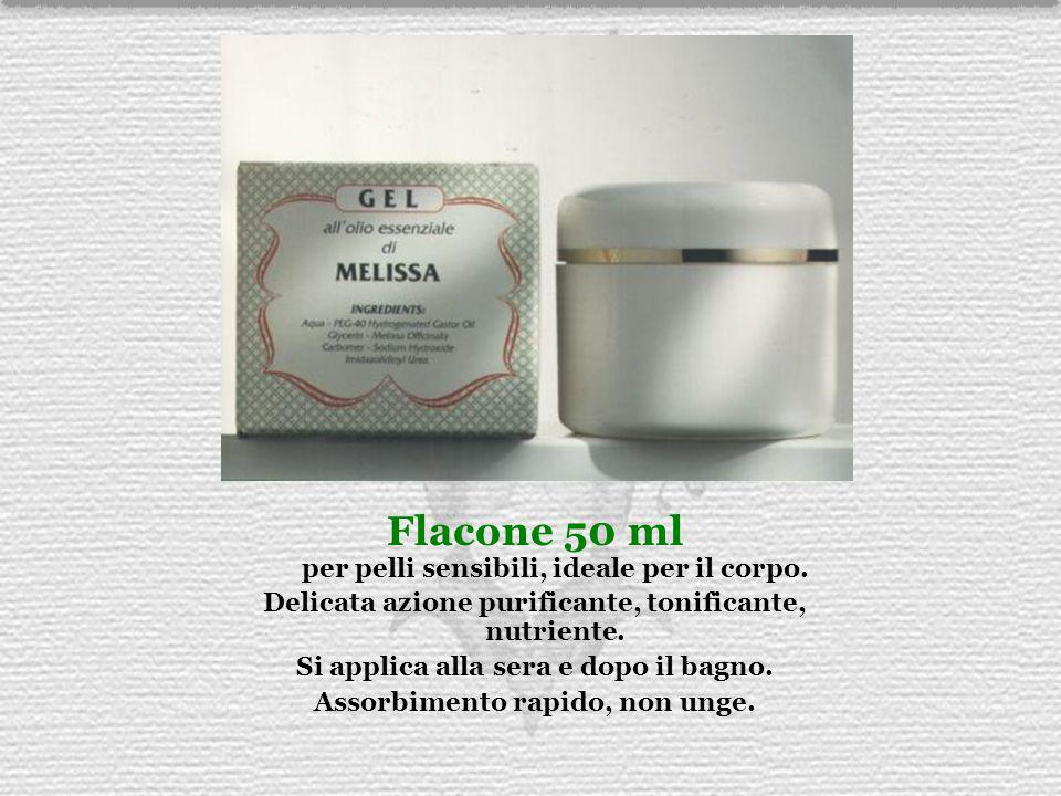 Flacone 50 ml per pelli sensibili, ideale per il corpo.