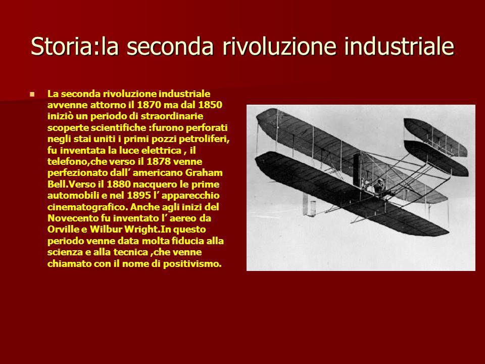 Storia:la seconda rivoluzione industriale