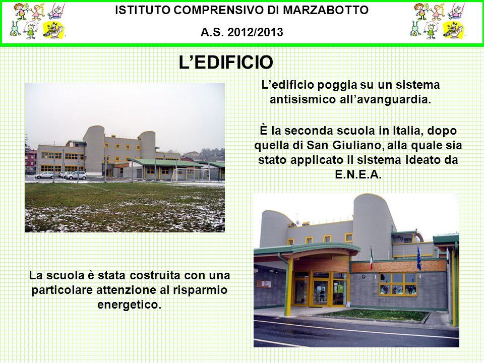 L'EDIFICIO ISTITUTO COMPRENSIVO DI MARZABOTTO A.S. 2012/2013
