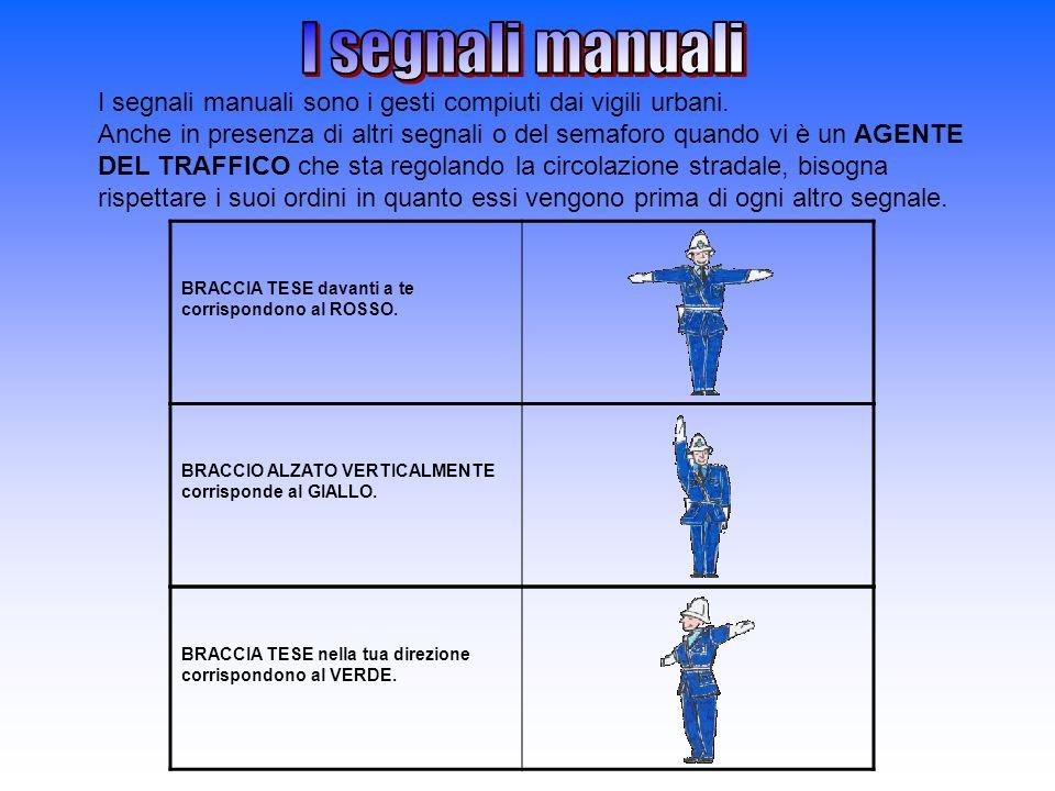 I segnali manuali
