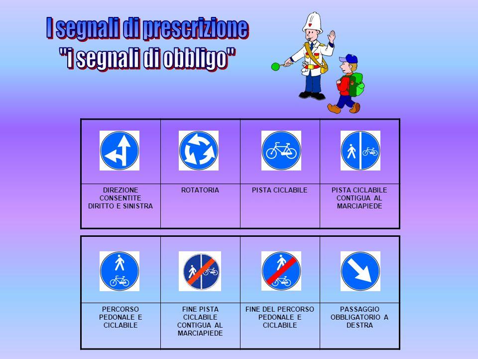 I segnali di prescrizione i segnali di obbligo