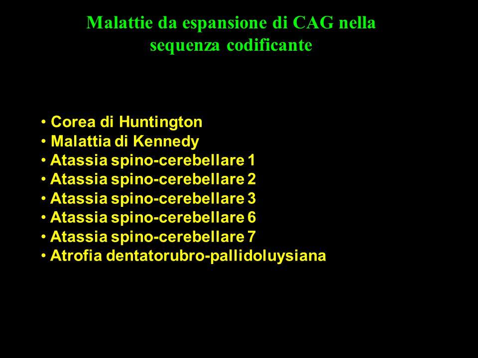 Malattie da espansione di CAG nella sequenza codificante