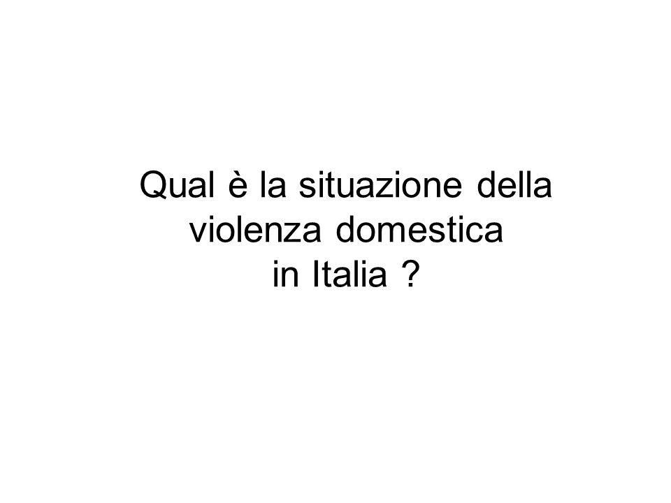 Qual è la situazione della violenza domestica