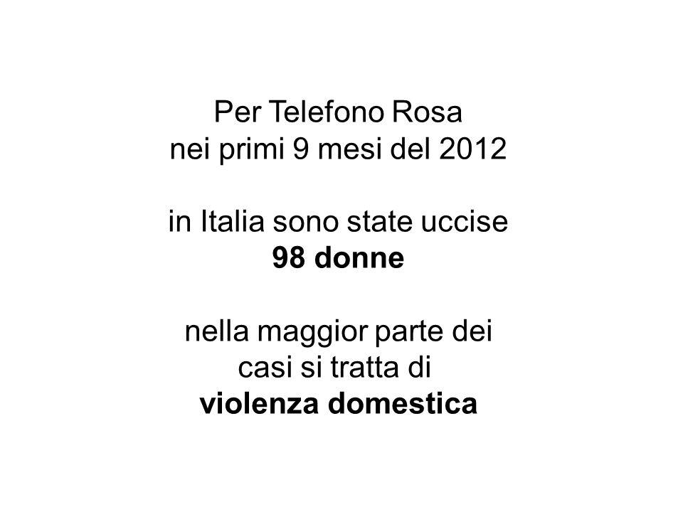 in Italia sono state uccise 98 donne
