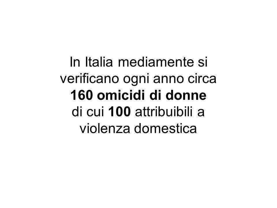 di cui 100 attribuibili a violenza domestica