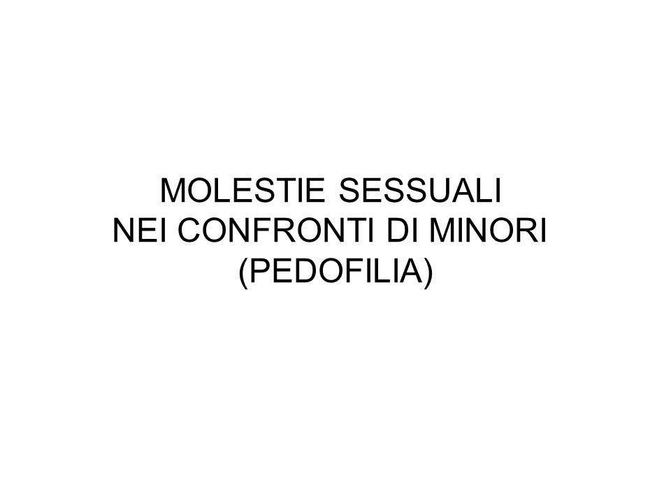 NEI CONFRONTI DI MINORI